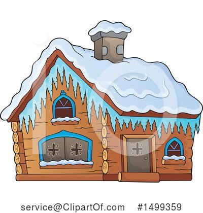 Royalty-Free (RF) Cabin Clipart Illustration by visekart - Stock Sample #1499359
