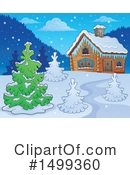 Royalty-Free (RF) Cabin Clipart Illustration #1499360
