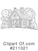 Royalty-Free (RF) Cabin Clipart Illustration #211021