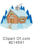 Royalty-Free (RF) Cabin Clipart Illustration #214591