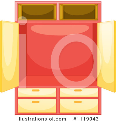 Royalty-Free (RF) Cabinet Clipart Illustration by Graphics RF - Stock Sample #1119043
