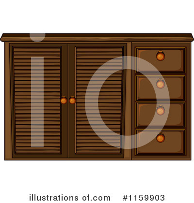 Cabinet Clipart #1159903 by Graphics RF