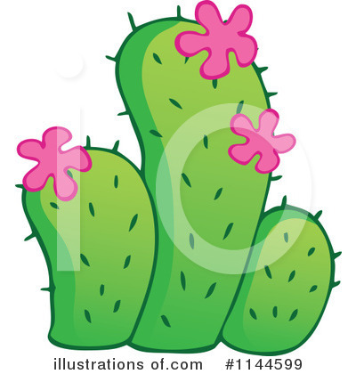 Royalty-Free (RF) Cactus Clipart Illustration by visekart - Stock Sample #1144599