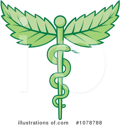 Royalty-Free (RF) Caduceus Clipart Illustration by Any Vector - Stock Sample #1078788