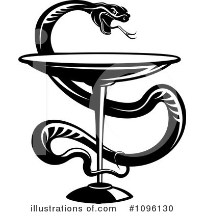 Caduceus Clipart #1096130 by Vector Tradition SM