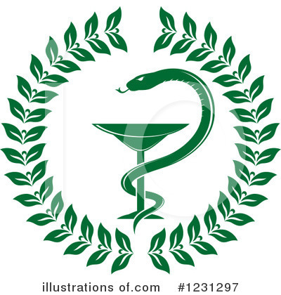 Caduceus Clipart #1231297 by Vector Tradition SM