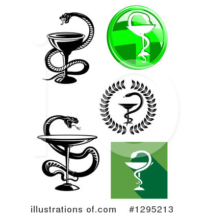 Caduceus Clipart #1295213 by Vector Tradition SM