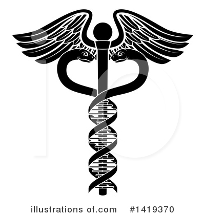 Caduceus Clipart #1419370 by AtStockIllustration