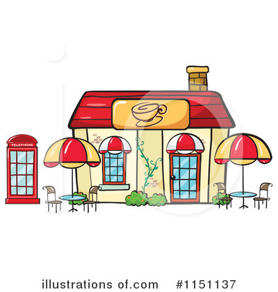 Cafe Clipart #1151137 - Illustration by colematt