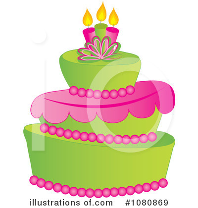 Birthday Cake Clipart #1080869 by Pams Clipart
