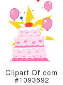 Royalty-Free (RF) Cake Clipart Illustration #1093692