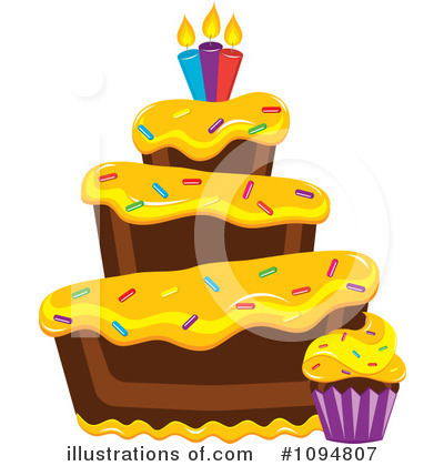 Birthday Cake Clipart #1094807 by Pams Clipart