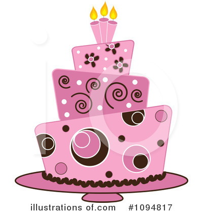 Birthday Cake Clipart #1094817 by Pams Clipart