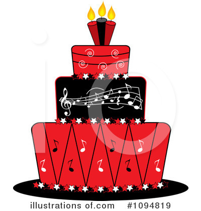 Birthday Cake Clipart #1094819 by Pams Clipart