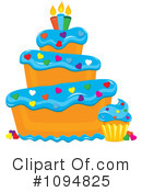 Royalty-Free (RF) Cake Clipart Illustration #1094825