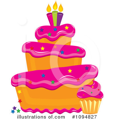 Birthday Cake Clipart #1094827 by Pams Clipart