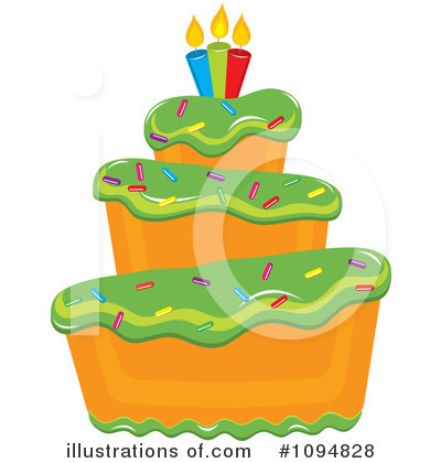 Birthday Cake Clipart #1094828 by Pams Clipart
