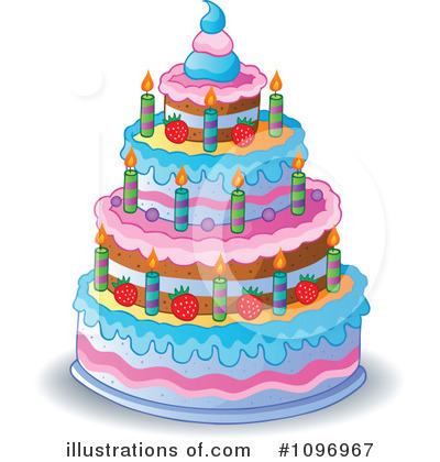 Birthday Cake Clipart #1096967 by visekart