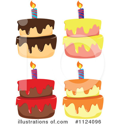 Birthday Cake Clipart #1124096 by Graphics RF