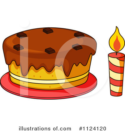 Birthday Cake Clipart #1124120 by Graphics RF