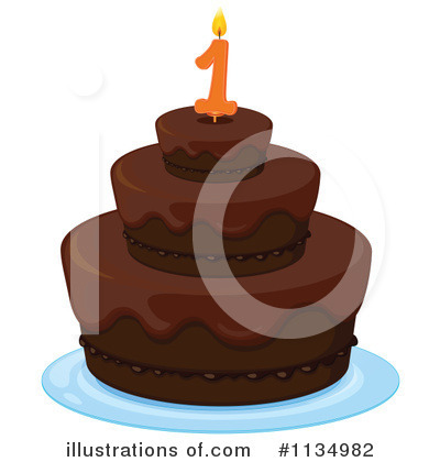 Birthday Cake Clipart #1134982 by Graphics RF