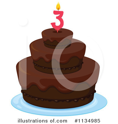 Birthday Cake Clipart #1134985 by Graphics RF