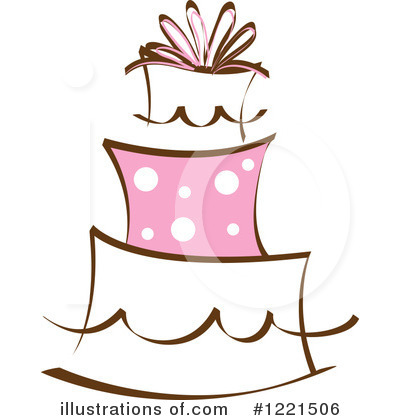 Cake Clipart #1221506 - Illustration by Pams Clipart