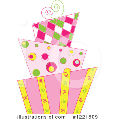 Royalty-Free (RF) Cake Clipart Illustration by Pams Clipart - Stock Sample #1221509