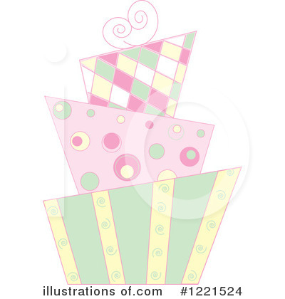 Royalty-Free (RF) Cake Clipart Illustration by Pams Clipart - Stock Sample #1221524
