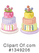 Royalty-Free (RF) Cake Clipart Illustration #1349206