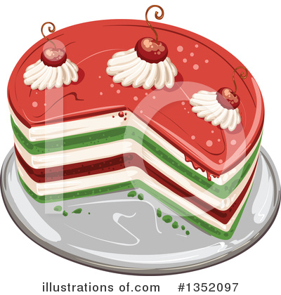 Cake Clipart #1352097 by merlinul