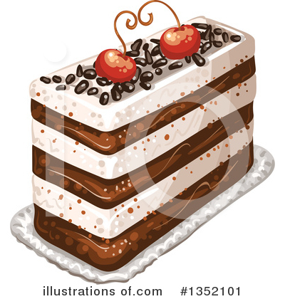 Royalty-Free (RF) Cake Clipart Illustration by merlinul - Stock Sample #1352101