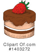 Cake Clipart #1403272 by Vector Tradition SM