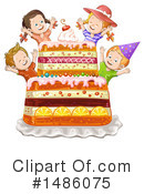 Royalty-Free (RF) Cake Clipart Illustration #1486075