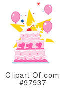 Royalty-Free (RF) Cake Clipart Illustration #97937