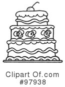 Royalty-Free (RF) Cake Clipart Illustration #97938