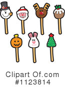 Royalty-Free (RF) Cake Pop Clipart Illustration #1123814