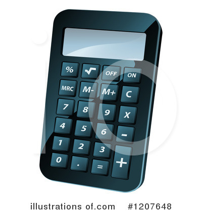 Calculator Clipart #1207648 by AtStockIllustration