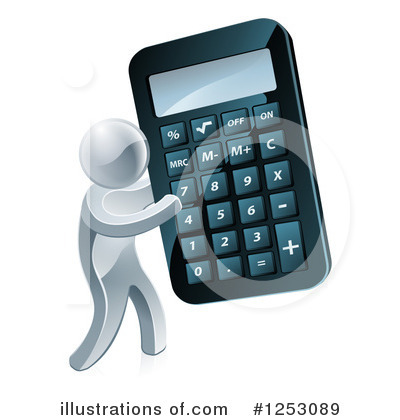 Calculator Clipart #1253089 by AtStockIllustration