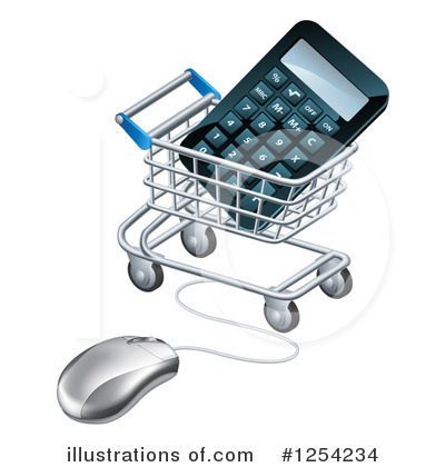 Shopping Cart Clipart #1254234 by AtStockIllustration