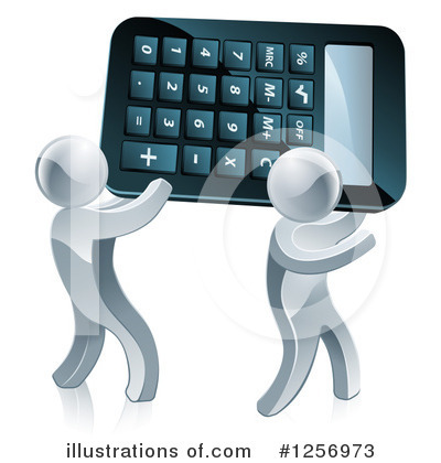 Royalty-Free (RF) Calculator Clipart Illustration by AtStockIllustration - Stock Sample #1256973