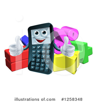 Calculator Clipart #1258348 by AtStockIllustration