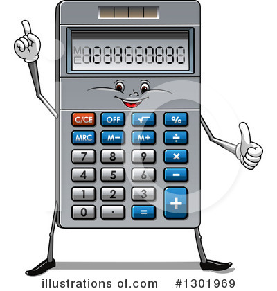 Royalty-Free (RF) Calculator Clipart Illustration by Vector Tradition SM - Stock Sample #1301969