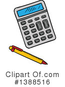 Royalty-Free (RF) Calculator Clipart Illustration #1388516