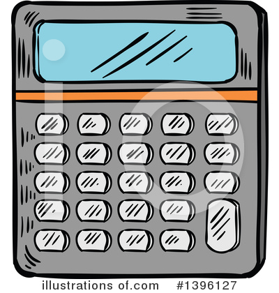 Royalty-Free (RF) Calculator Clipart Illustration by Vector Tradition SM - Stock Sample #1396127