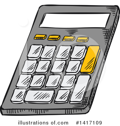 Royalty-Free (RF) Calculator Clipart Illustration by Vector Tradition SM - Stock Sample #1417109
