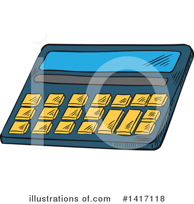 Royalty-Free (RF) Calculator Clipart Illustration by Vector Tradition SM - Stock Sample #1417118