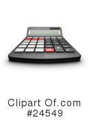 Royalty-Free (RF) calculator Clipart Illustration #24549