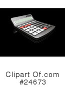 Royalty-Free (RF) calculator Clipart Illustration #24673