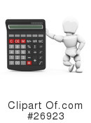 Royalty-Free (RF) calculator Clipart Illustration #26923